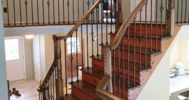Изготовление лестницы из дерева на второй этаж дома