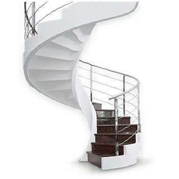 фото бетонной монолитной лестницы под дерево