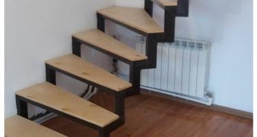 фото обшивки лестницы металлической деревом до