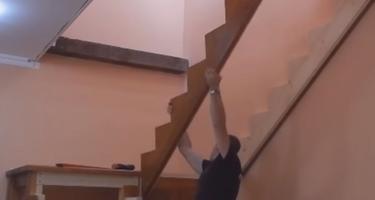 П-образная лестница из дерева