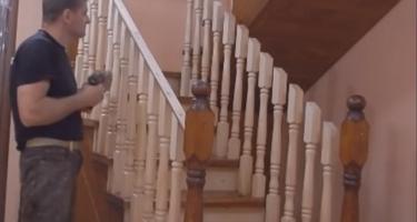 лестница П-образная в доме