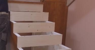 п образная лестница на косоурах