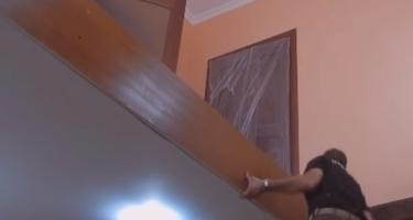 П-образная деревянная лестница