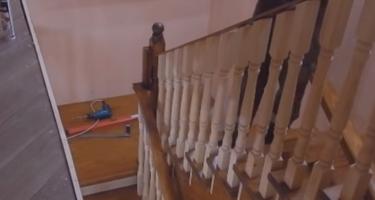 П-образная лестница частного дома
