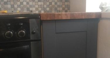 столешница из канадского дуба на кухне