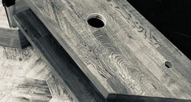 изготовление столешницы под раковину из дерева в Краснодаре
