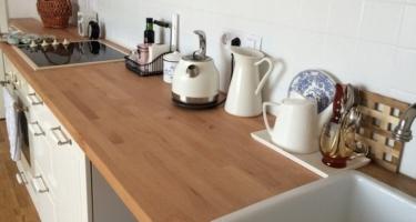 столешница из дерева для кухни на заказ в Краснодаре