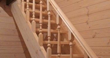 купить деревянную лестницу маршевую в Краснодаре