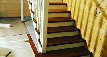 лестница прямая деревянная купить в Краснодаре