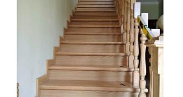 прямые деревянные лестницы в Краснодаре
