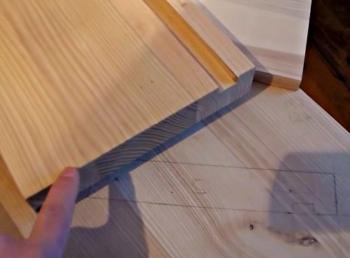 разметка одномаршевой деревянной лестницы