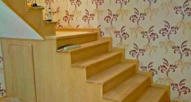 Изготовление Г-образной лестницы из дерева