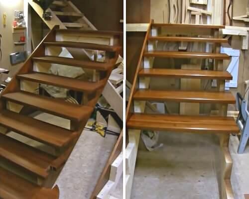 стоимость монтажа деревянной лестницы в Краснодаре