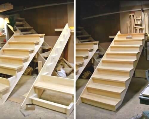 стоимость сборки лестницы из дерева в Краснодаре