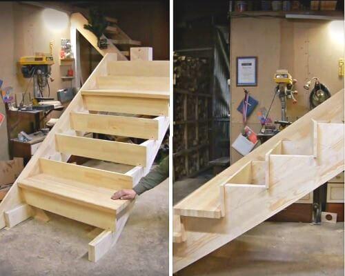 цена сборки деревянной лестницы в Краснодаре