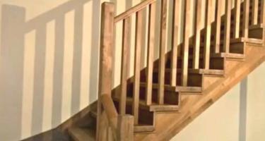 Лестница из дерева бука