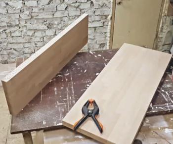 Склейка ступеней для лестницы из бука