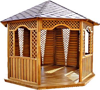 Готовые деревянные беседки в Краснодаре и изготовление беседок из дерева