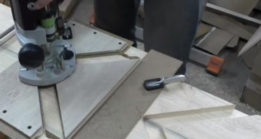 Изготовление забежной деревянной лестницы с поворотными ступенями