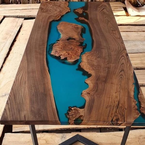 купить стол река из карагача на заказ в Краснодаре