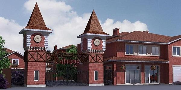 Кованые ворота с калиткой КП Бавария